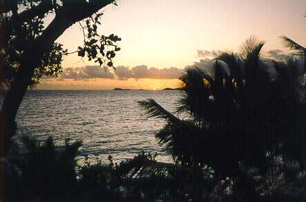 A romantic sunset at Caribbean Rental Homes